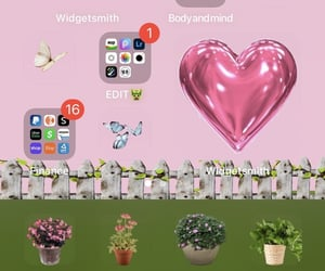 butterflies, iphone, and pink image