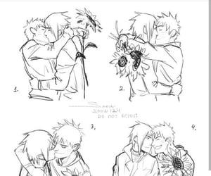 naruto, uchiha, and sasuke image