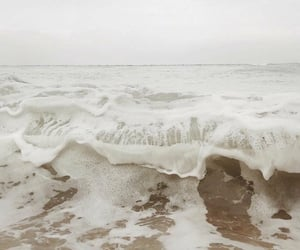 beige, waves, and beach image