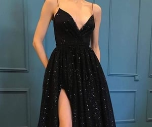 black, dress, and pretty image
