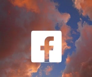 aesthetic, facebook, and Logo image