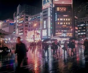 city, japan, and lights image