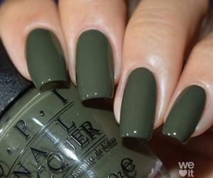 nails, green, and girl image