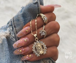 nails, stars, and gold image