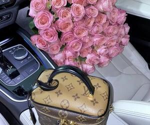 car, designer, and flowers image