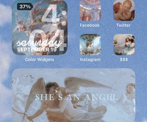 aesthetic, angels, and apple image