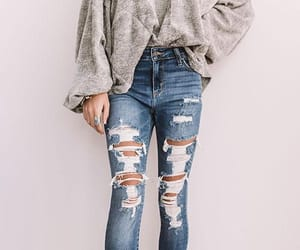 ripped jeans image
