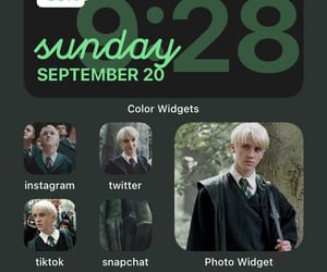 aesthetic, slytherin, and widgets image