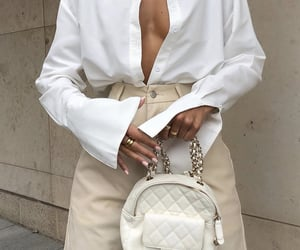 everyday look, white blouse, and wide sleeve image