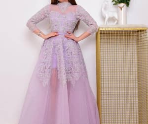 purple prom dresses, high neck prom dress, and dubai fashion image