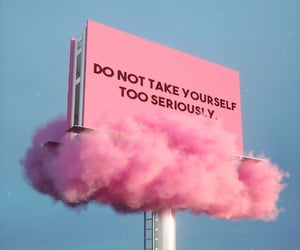 quotes, pink, and clouds image