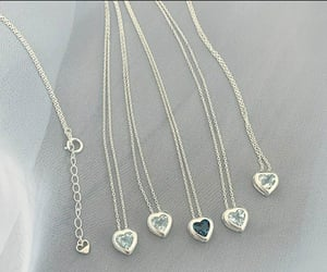 get up, heart, and necklace image