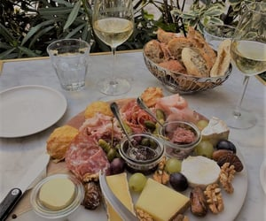 bread, cheese plate, and food image