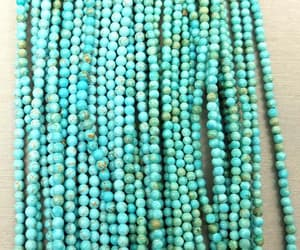 beads, natural turquoise, and beads by strand image