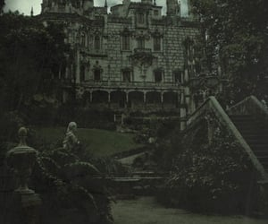 castle, dark, and black and white image
