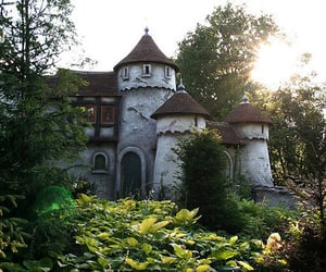 castle, nature, and efteling image