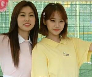 kim chaewon, iz*one, and kang hyewon image