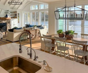 home, house, and kitchen image