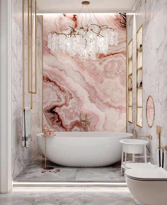bathroom, marble, and home image