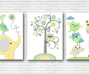 etsy, set of 3, and canvas wall art image