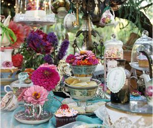 alice in wonderland, mad tea party, and wonderland image