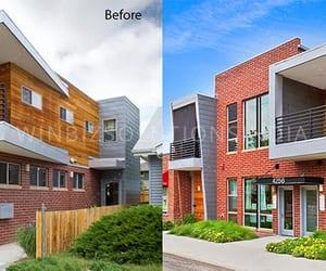photo editing, sky change, and real estate image image