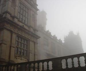 fog, architecture, and dark academia image