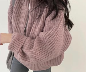 girl, pink, and koreanstyle image