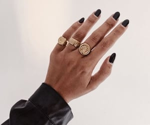 jewelry, gold, and nails image