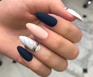 girl, pretty, and nail image