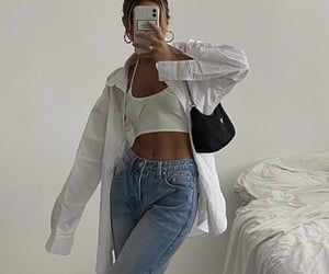 everyday look, white blouse, and white crop top image