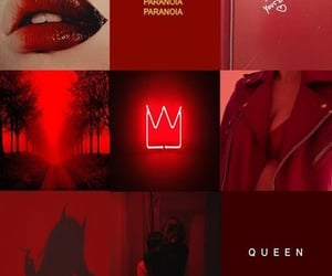 Queen, red, and neon image