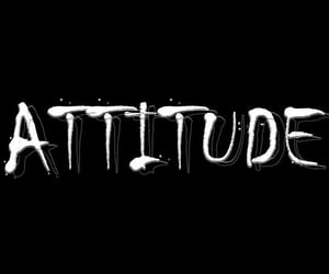 attitude, words, and typography image