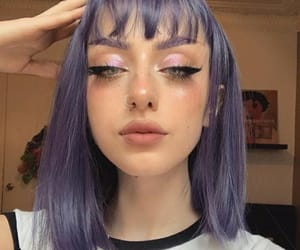 colored hair, purple hair, and hair color image
