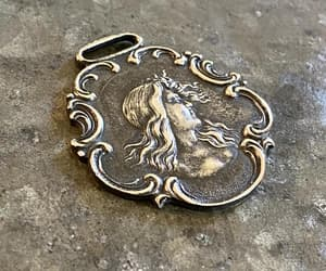Art Nouveau, estate jewelry, and silver luggage tag image
