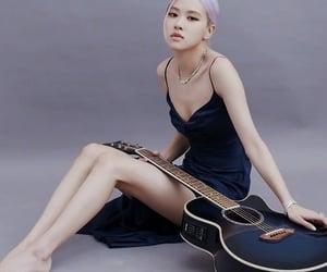 fashion, guitar, and rose image