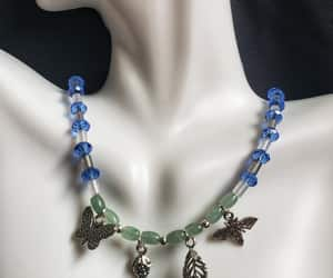 blue beads, etsy, and blue necklace image