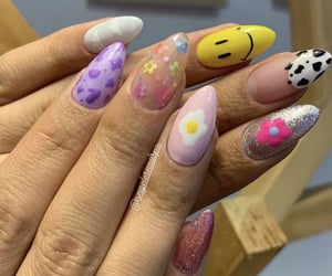acrylics, indie, and nails image