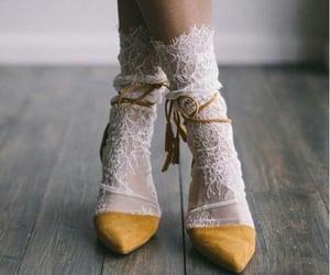 aesthetic, socks, and yellow image