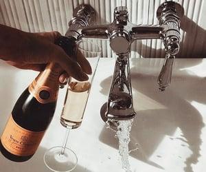 bath, champagne, and wine image