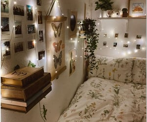 aesthetic, bedroom, and fairy lights image