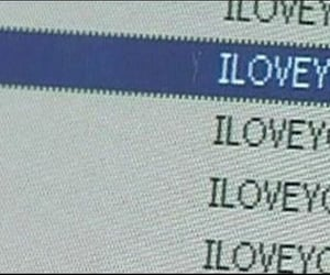 computer, I Love You, and love image