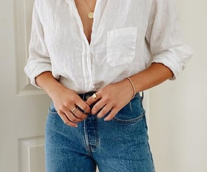 fashion, jeans, and shirt image
