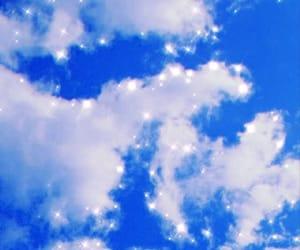 azul, nubes, and gloss image
