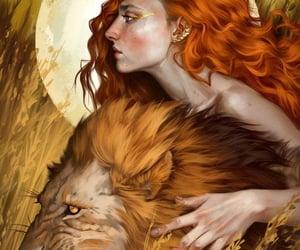 animal, astrology, and girl image