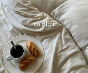 bed, cozy, and bread image