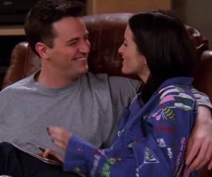 chandler bing, monica geller, and chandler and monica image