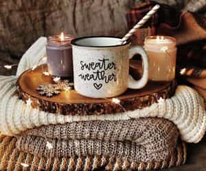 autumn, candle, and sweater image