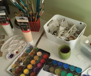 art supplies, inspiration, and Brushes image