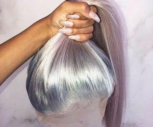 hair, long hair, and lavender image